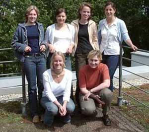 hinten: Nicole Gutmann, Jasmin Axmann, Sandra Dehn, Kerstin Aye vorne: Sandra Thiel, Magdalena Gawlinski